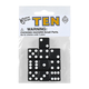 Black Dice with White Dots (10 per bag - 16mm)