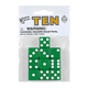 Green Dice with White Dots (10 per bag - 16mm)