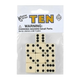 Ivory Dice with Black Dots (10 per bag - 16mm)