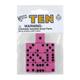 Pink Dice with Black Dots (10 per bag - 16mm)