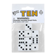White Dice with Black Dots (10 per bag - 16mm)