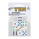 White Dice with Multi-Colored Dots (10 per bag - 16mm)
