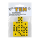 Yellow Dice with Black Dots (10 per bag - 16mm)