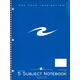 5 Subject College Ruled Notebook (Brite Cover)