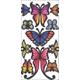 Butterfly Window Decals (1 sheet)
