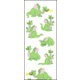 Dragons Puffy Fuzzy Stickers (1 sheet)