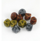 10 Sided Olympic Pearlized Polyhedral Dice Gold, Silver, & Bronze (10 per bag)