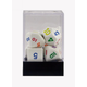 Rainbow Polyhedral Dice in a Box (7 Piece Set)