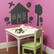 Chalkboard Murals - House and Trees (Peel & Stick)