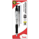 Quick Dock 0.5mm Automatic Pencil - Silver with Black Accents + 1 Refill Cartridge + 3 Eraser Refills