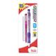 Quick Dock 0.7mm Automatic Pencil - Assorted Color + 1 Refill Cartridge + 3 Eraser Refills