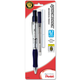 Quick Dock 0.7mm Automatic Pencil - Silver with Blue Accents + 1 Refill Cartridge + 3 Eraser Refills
