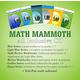 Math Mammoth All Inclusive Package Blue / Light Blue / Golden / Green CD