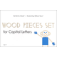 Wood Pieces Set for Capital Letters