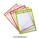 Dry Erase Pocket Bright Hues Assorted Color (9