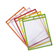 Dry Erase Pockets Bright Hues Assorted (6