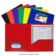 Two-Pocket Poly Portfolio Assorted Color without Prongs