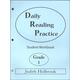 Daily Reading Practice Student Workbook Grade 1