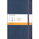 Classic Sapphire Blue Hardcover Large Notebook - Ruled