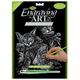 Engraving Art - Tabby Cat & Kitten (Silver Foil)