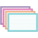 Border Index Cards - Lined Assorted Chevron 3