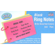 Ring Notes Blank Bright Assorted Index Cards 3