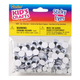 Sticky Black Eyes Round Black/White (160 pieces assorted sizes)