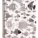 Creation Series 3-Section Notebook: Fish Ink Doodle