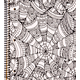 Creation Series 3-Section Notebook: Kaleidoscope Ink Doodle