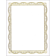 Gold Filigree Foil Certificates (Package of 12)