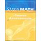 Saxon Math Course 3 Assessments