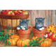Kittens with Pumpkins Puzzle (60 Pieces)