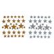 Foamies Glttr Stckrs:Glttr Stars Gold & Silvr