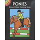 Ponies Small Format Stained Glass Color Book