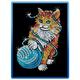 Sequin Art Blue Kitten