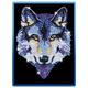 Sequin Art Blue Wolf