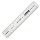 Safe-T Ruler, Clear, Poly (6