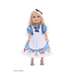 Alice in Wonderland Doll Dress w/Apron & Bow