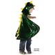 Reversible Dragon/Knight Cape (Green/Silver) One Size