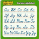 Learning Stickers - Cursive Alphabet