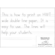 Wide Double Line Notebook Paper (ream)