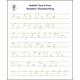 Trace & Erase Alphabet Handwrtng Sheets: Modern
