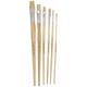 General Purpose White Bristle 6 Flat Brushes