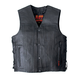 Hot Leathers Gun Pocket Leather Motorcycle Vest