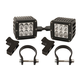 Rigid Industries Dually D2 LED Drive Beam Lights With Horizontal Light Mounts