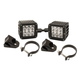 Rigid Industries Dually D2 LED Drive Beam Lights With A-Pillar Light Mounts