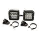 Rigid Industries Dually D2 LED Wide Beam Lights With A-Pillar Light Mounts