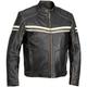 River Road Hoodlum Leather Motorcycle Jacket