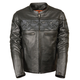Milwaukee Leather Crossover Reflective Leather Motorcycle Jacket