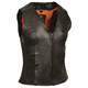 Milwaukee Leather Women's Zipper Front Motorcycle Vest